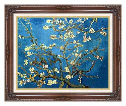 Vincent Van Gogh Almond Blossom canvas with dark regal wood frame