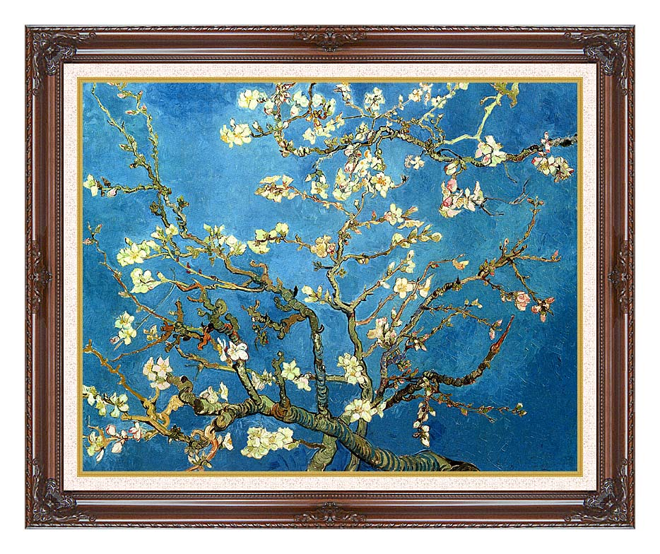 Vincent van Gogh Almond Blossom with Dark Regal Frame w/Liner