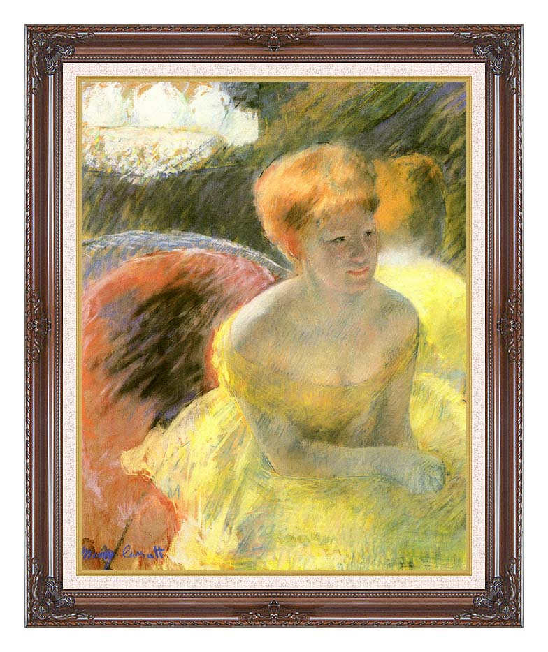 Mary Cassatt At the Theater (Woman in a Loge) with Dark Regal Frame w/Liner