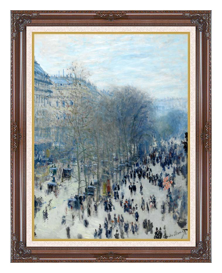 Claude Monet Boulevard des Capucines with Dark Regal Frame w/Liner