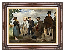 Edouard Manet The Old Musician canvas with dark regal wood frame