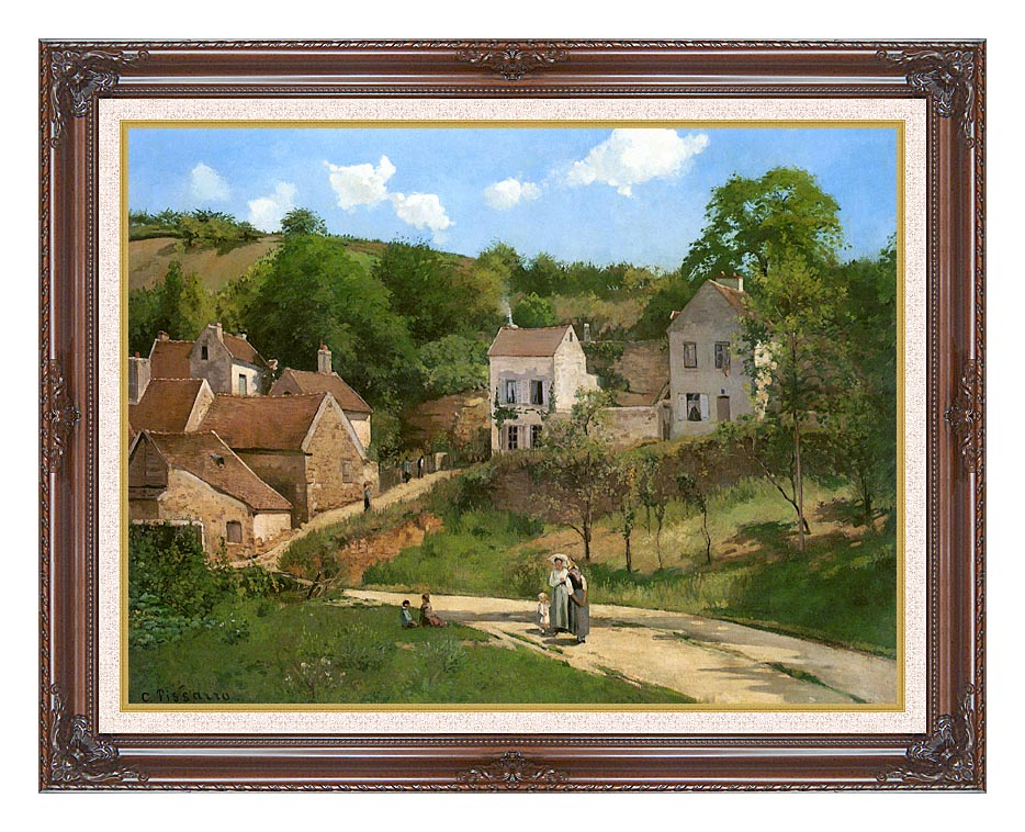 Camille Pissarro The Hermitage at Pontoise with Dark Regal Frame w/Liner