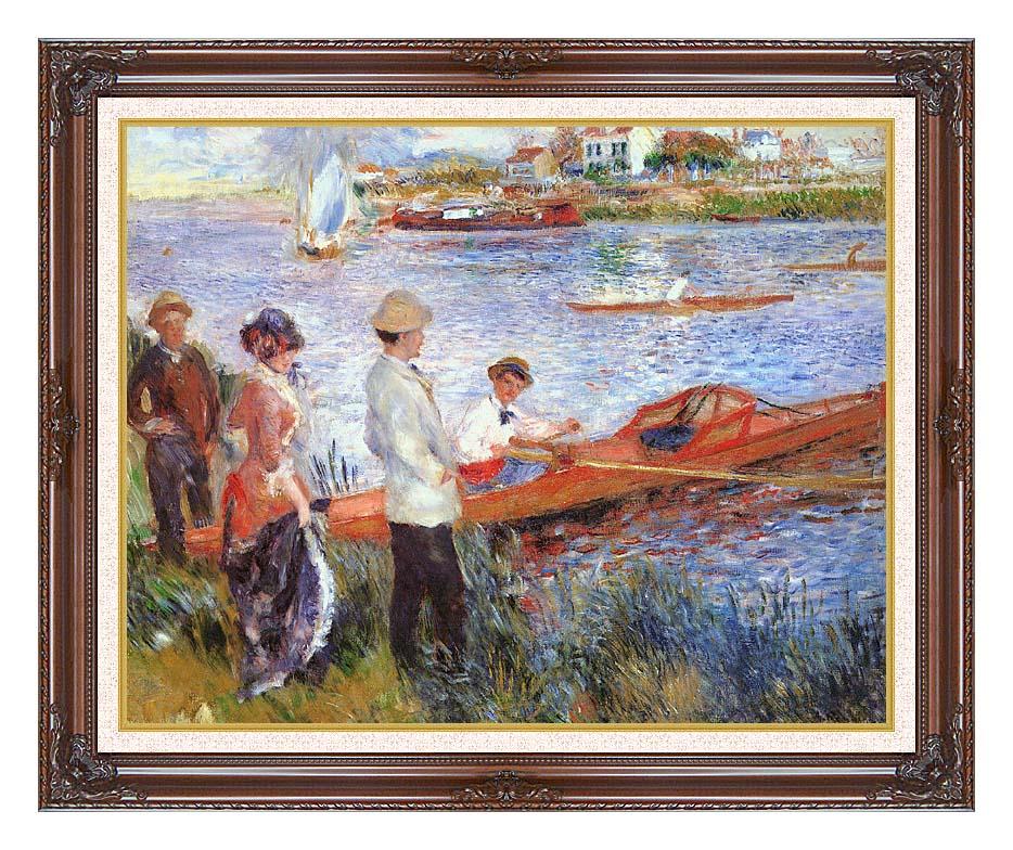 Pierre Auguste Renoir Oarsmen at Chatou with Dark Regal Frame w/Liner