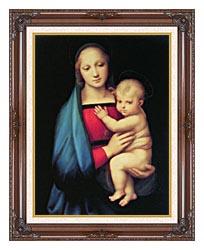 Raphael The Madonna Del Granduca canvas with dark regal wood frame