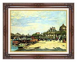 Pierre Auguste Renoir The Pont Des Arts canvas with dark regal wood frame