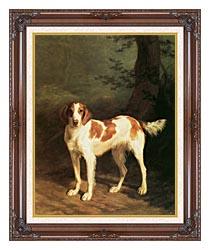 Jacques Laurent Agasse Dash A Setter canvas with dark regal wood frame