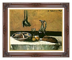 Camille Pissarro Kitchen Still Life canvas with dark regal wood frame