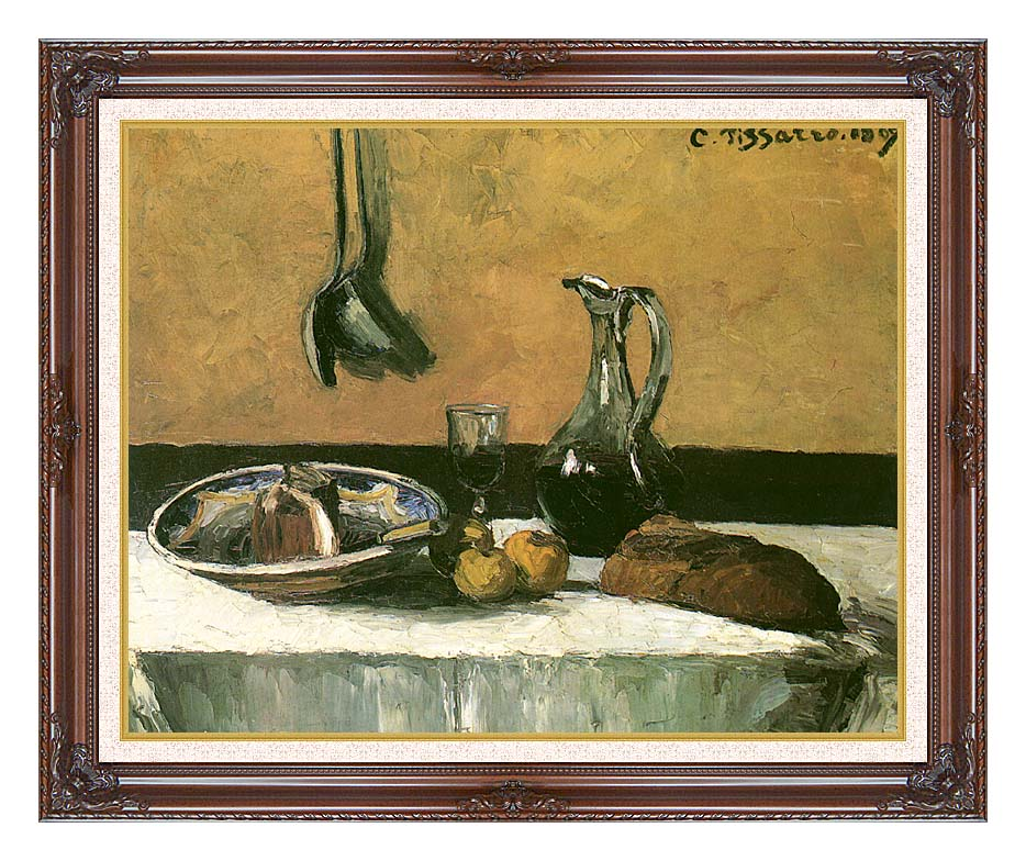 Camille Pissarro Kitchen Still Life with Dark Regal Frame w/Liner
