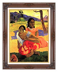 Paul Gauguin When Will You Marry canvas with dark regal wood frame