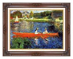 Pierre Auguste Renoir The Skiff canvas with dark regal wood frame