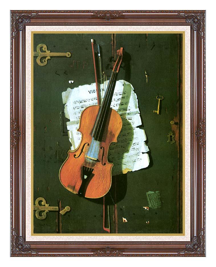 John Frederick Peto The Old Violin with Dark Regal Frame w/Liner