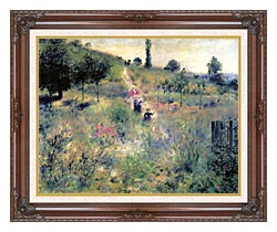 Pierre Auguste Renoir Path Winding Through High Grass canvas with dark regal wood frame