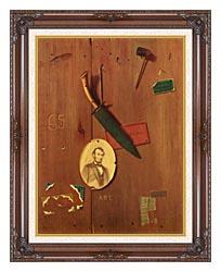 John Frederick Peto Reminiscences Of 1865 canvas with dark regal wood frame