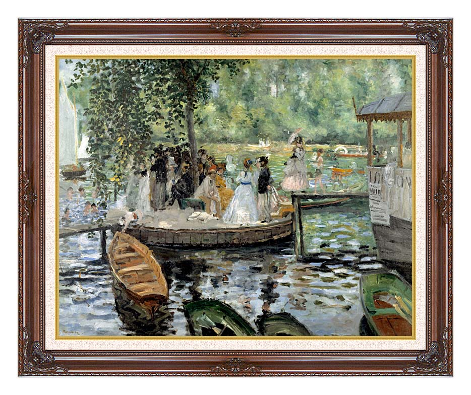 Pierre Auguste Renoir La Grenouillere with Dark Regal Frame w/Liner