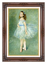 Pierre Auguste Renoir The Dancer canvas with dark regal wood frame