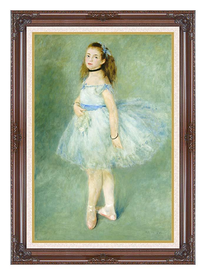 Pierre Auguste Renoir The Dancer with Dark Regal Frame w/Liner