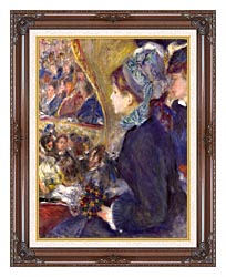 Pierre Auguste Renoir La Premiere Sortie canvas with dark regal wood frame