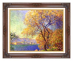 Claude Monet Antibes Seen From La Salis canvas with dark regal wood frame