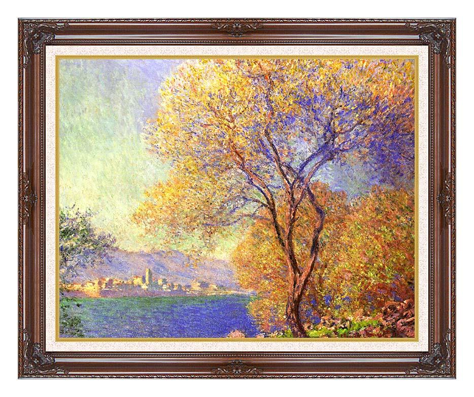 Claude Monet Antibes Seen from La Salis with Dark Regal Frame w/Liner