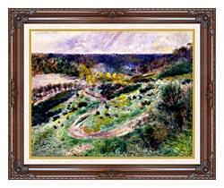 Pierre Auguste Renoir Road At Wargemont canvas with dark regal wood frame
