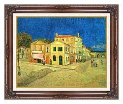 Vincent Van Gogh Vincents House In Arles canvas with dark regal wood frame