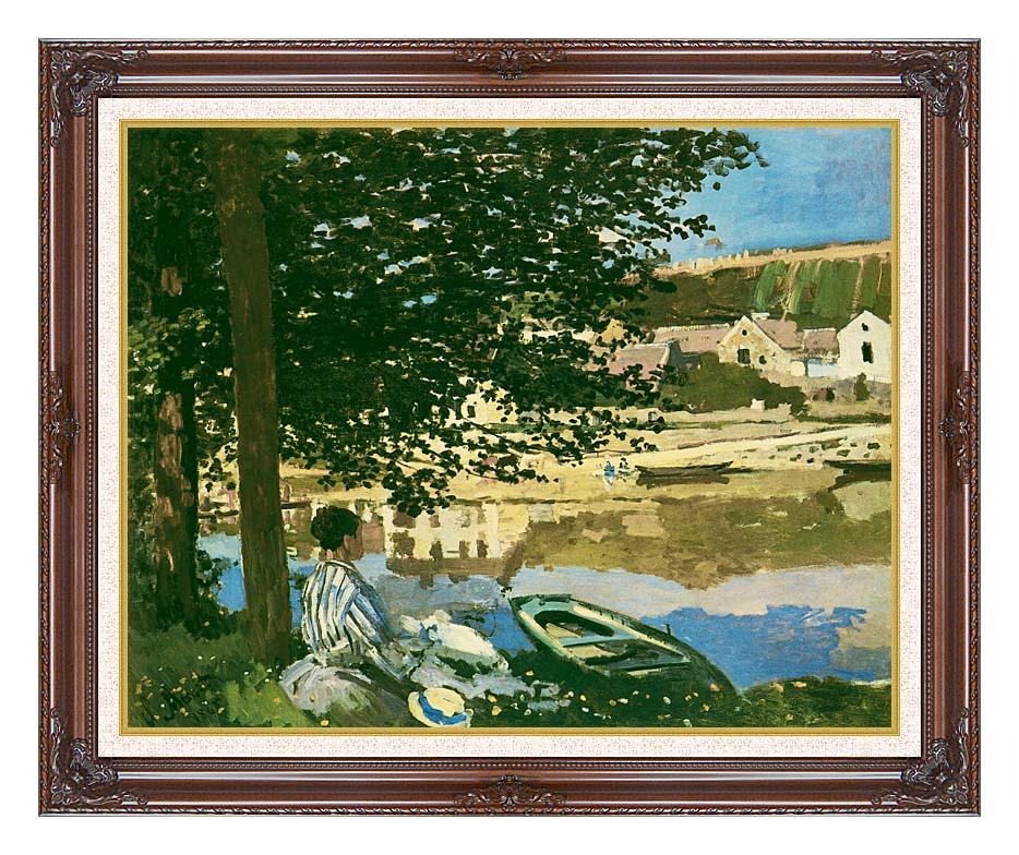 Claude Monet On the Seine at Bennecourt with Dark Regal Frame w/Liner