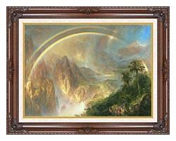Frederic Edwin Church Rainy Season In The Tropics Detail canvas with dark regal wood frame