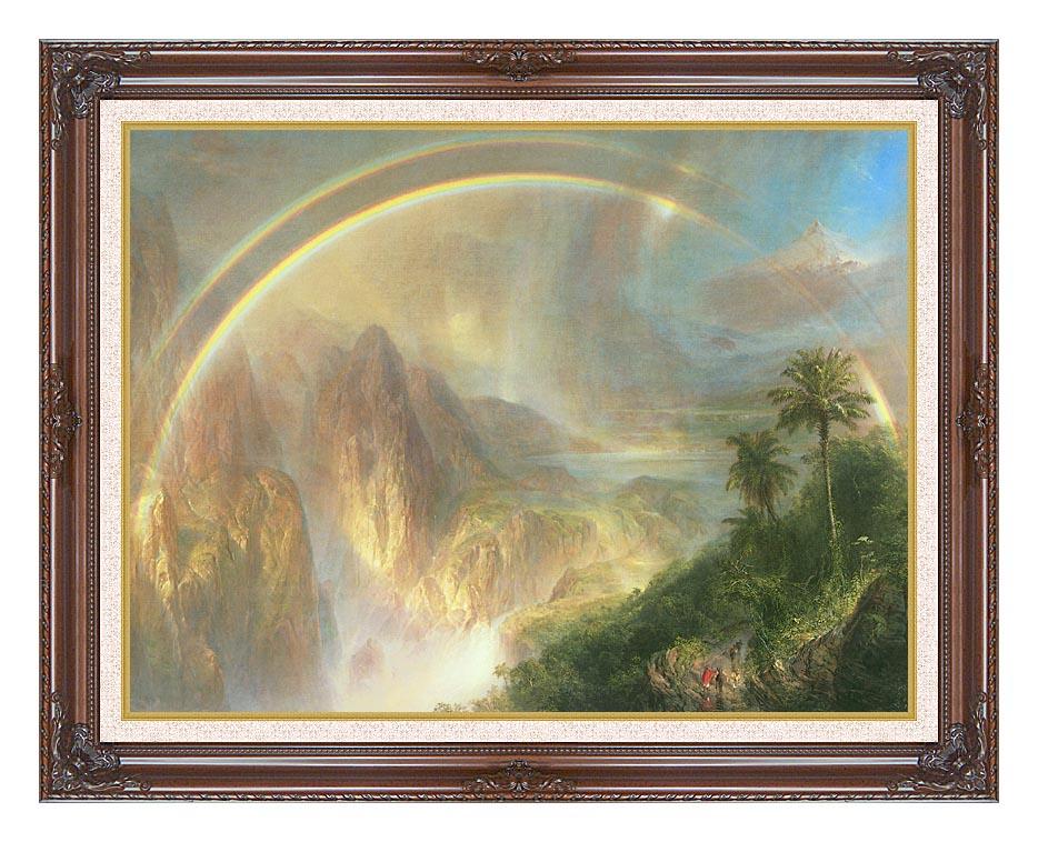Frederic Edwin Church Rainy Season in the Tropics (detail) with Dark Regal Frame w/Liner