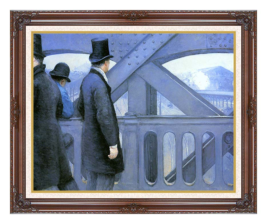 Gustave Caillebotte The Europe Bridge with Dark Regal Frame w/Liner