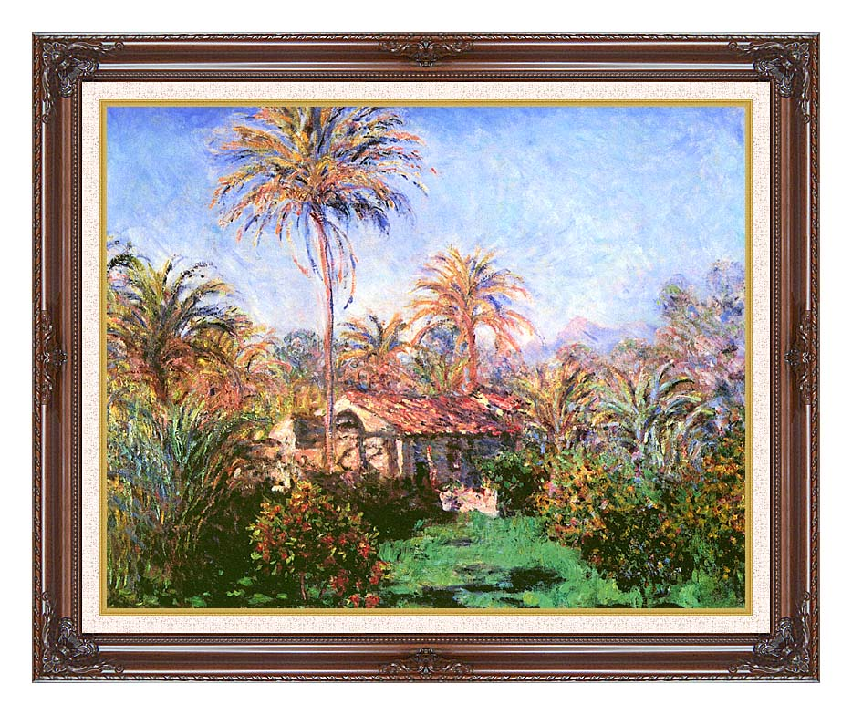 Claude Monet Palm Trees at Bordighera with Dark Regal Frame w/Liner