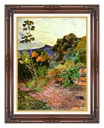 Paul Gauguin Martinique Landscape canvas with dark regal wood frame