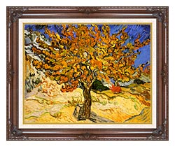 Vincent Van Gogh Mulberry Tree canvas with dark regal wood frame
