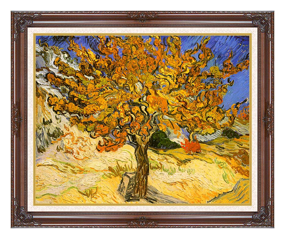 Vincent van Gogh Mulberry Tree with Dark Regal Frame w/Liner
