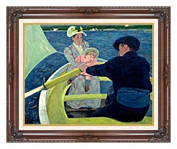 Mary Cassatt The Boating Party canvas with dark regal wood frame