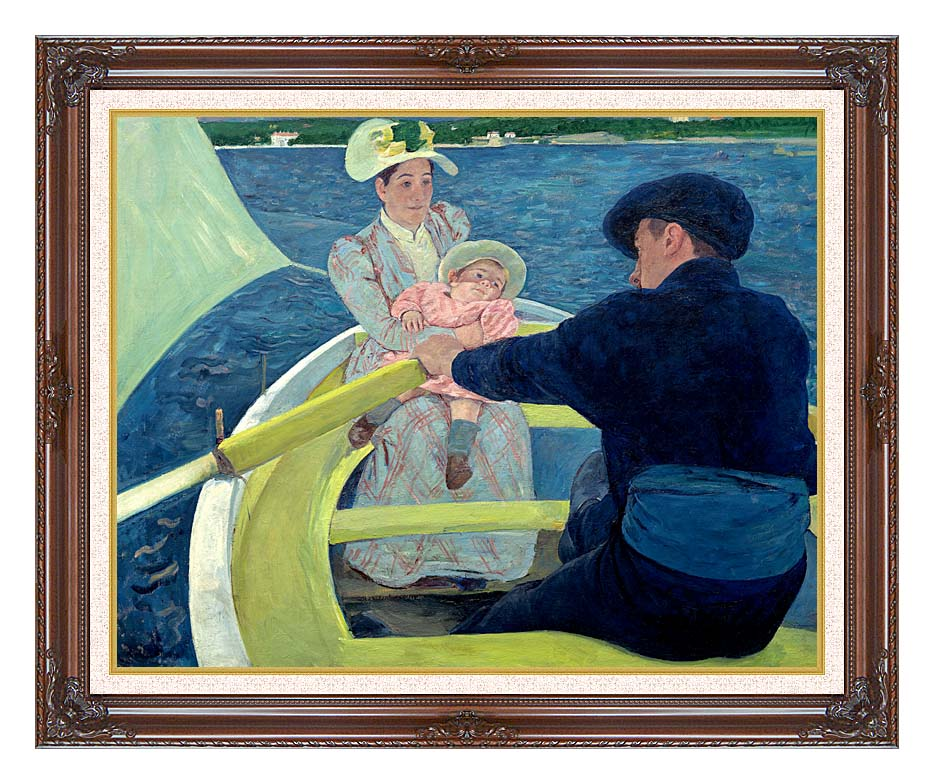 Mary Cassatt The Boating Party with Dark Regal Frame w/Liner