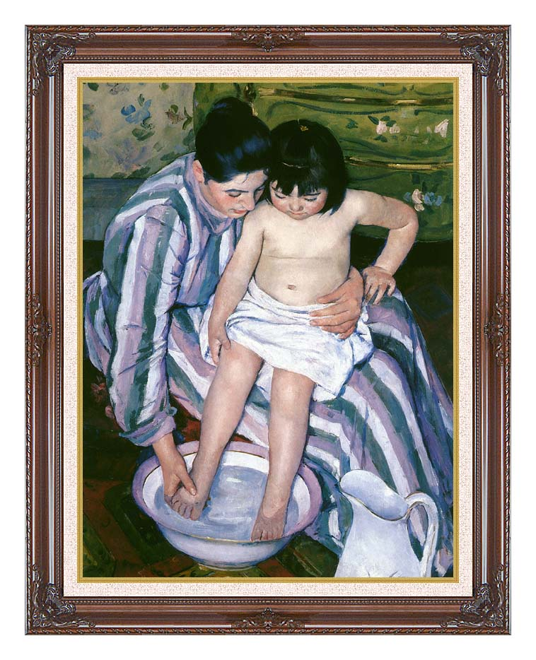 Mary Cassatt The Bath with Dark Regal Frame w/Liner