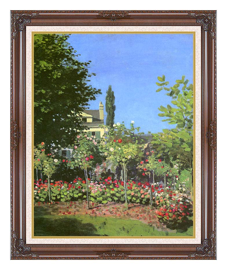 Claude Monet Garden in Bloom with Dark Regal Frame w/Liner