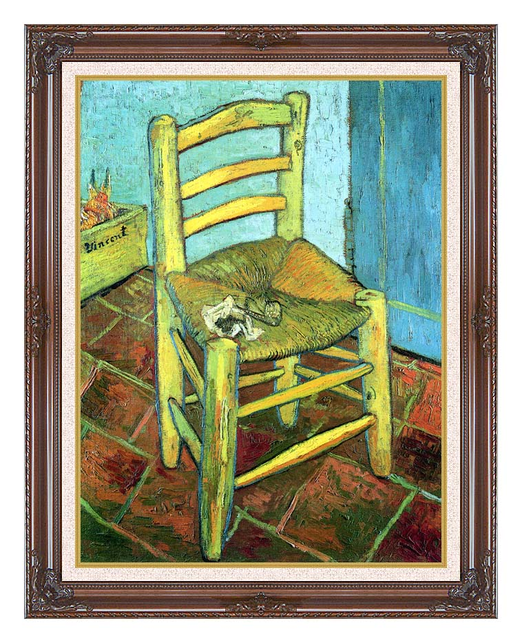 Vincent van Gogh Vincent's Chair with His Pipe with Dark Regal Frame w/Liner