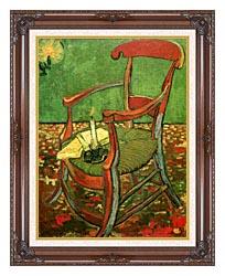 Vincent Van Gogh Paul Gauguins Armchair canvas with dark regal wood frame