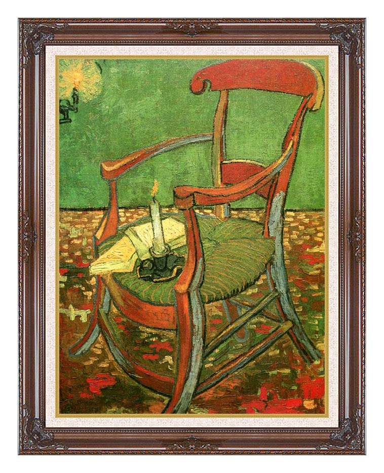 Vincent van Gogh Paul Gauguin's Armchair with Dark Regal Frame w/Liner