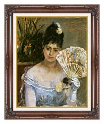 Berthe Morisot At The Ball canvas with dark regal wood frame