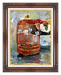 Berthe Morisot The Cage canvas with dark regal wood frame
