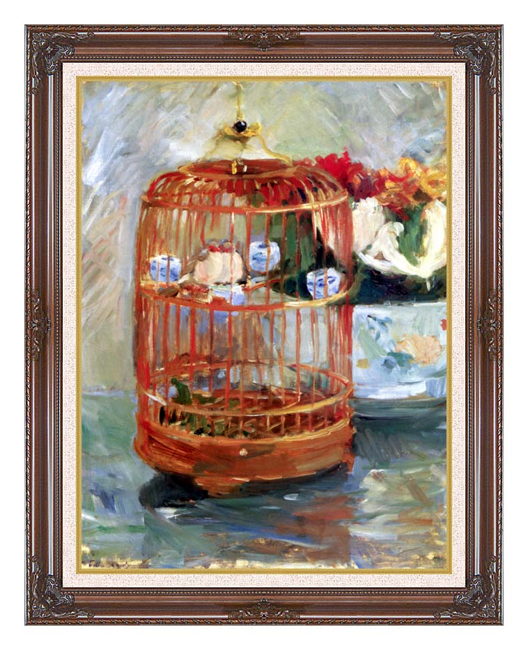 Berthe Morisot The Cage with Dark Regal Frame w/Liner