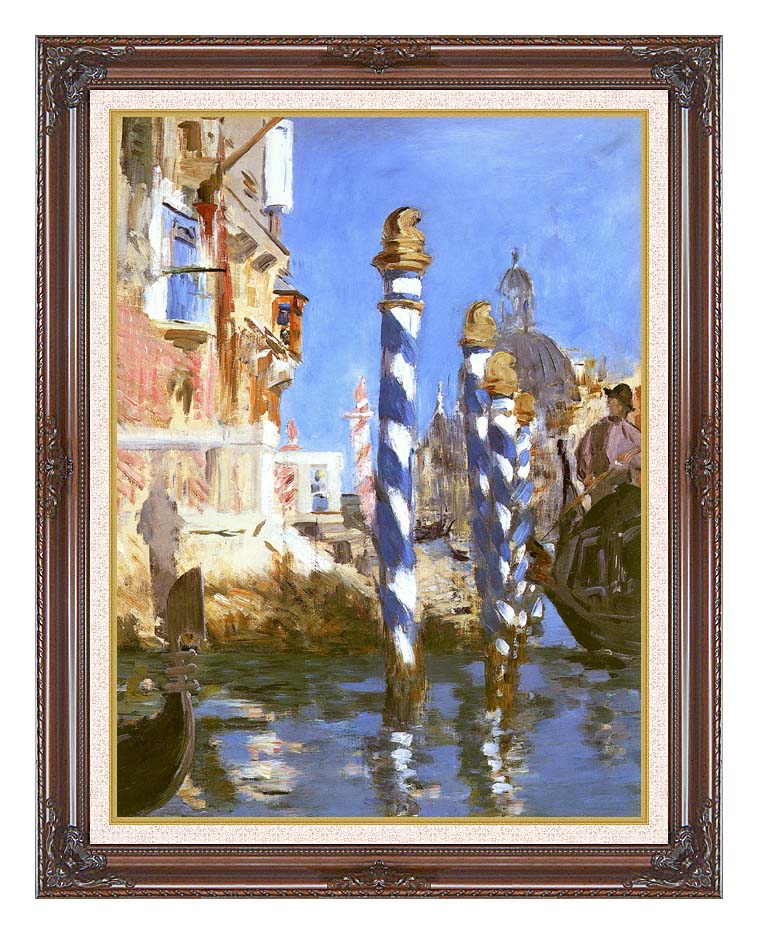 Edouard Manet The Grand Canal - Venice, Italy with Dark Regal Frame w/Liner