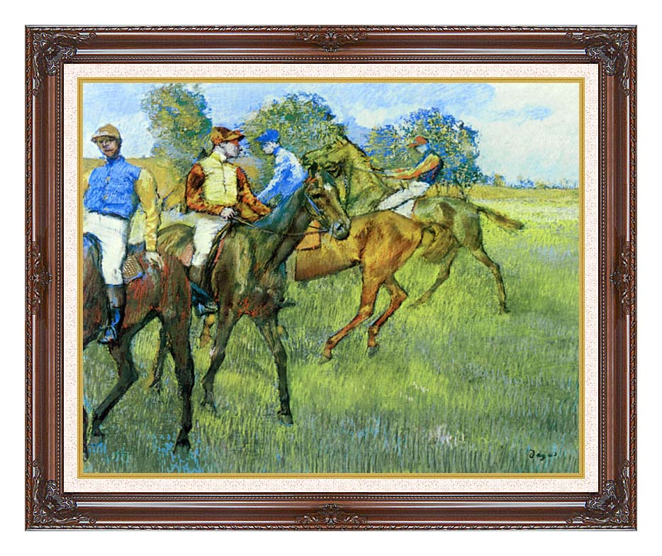 Edgar Degas Race Horses with Dark Regal Frame w/Liner