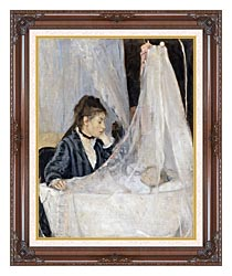Berthe Morisot The Cradle canvas with dark regal wood frame
