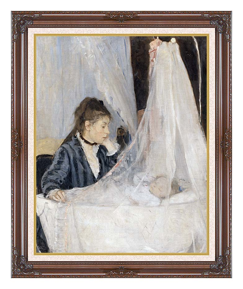 Berthe Morisot The Cradle with Dark Regal Frame w/Liner