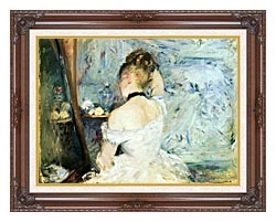 Berthe Morisot Lady At Her Toilette canvas with dark regal wood frame