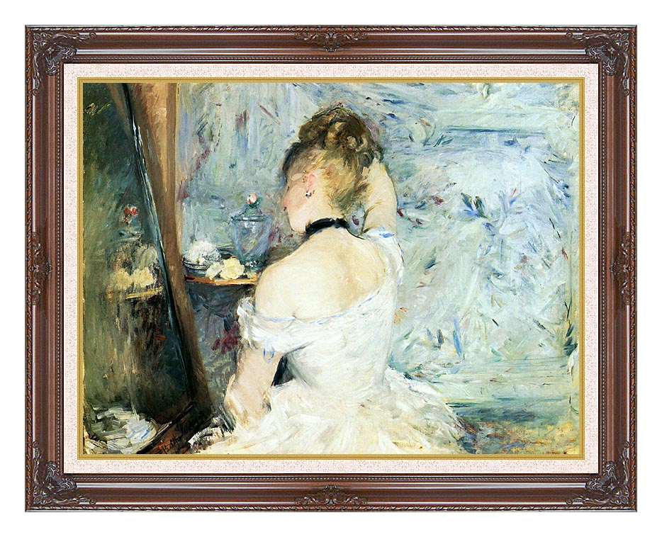 Berthe Morisot Lady at Her Toilette with Dark Regal Frame w/Liner