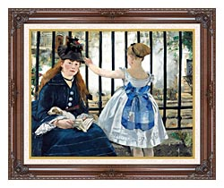 Edouard Manet Gare Sainte Lazare canvas with dark regal wood frame